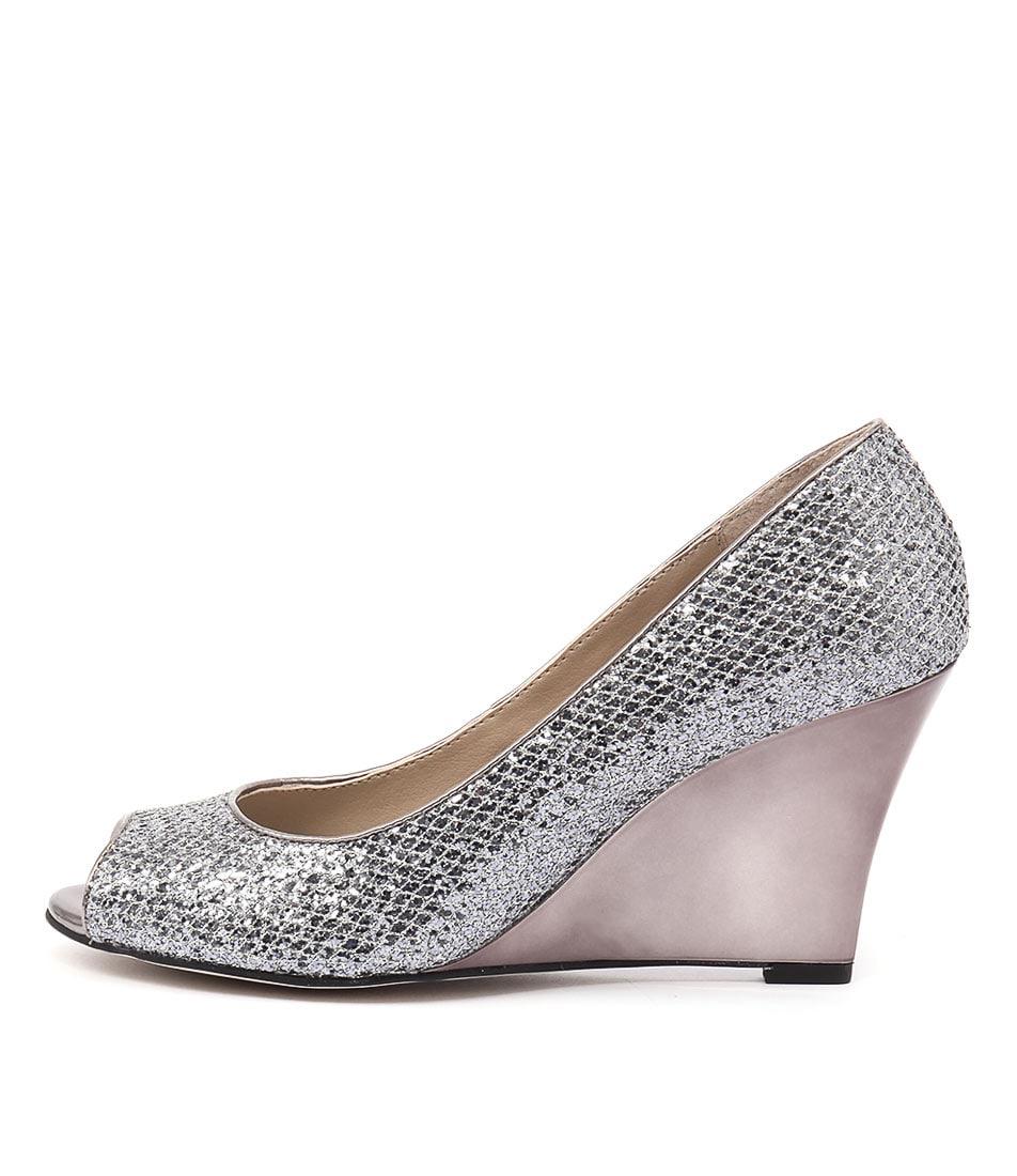 Diana Ferrari Saydie Gunmetal Sparkl High Heels