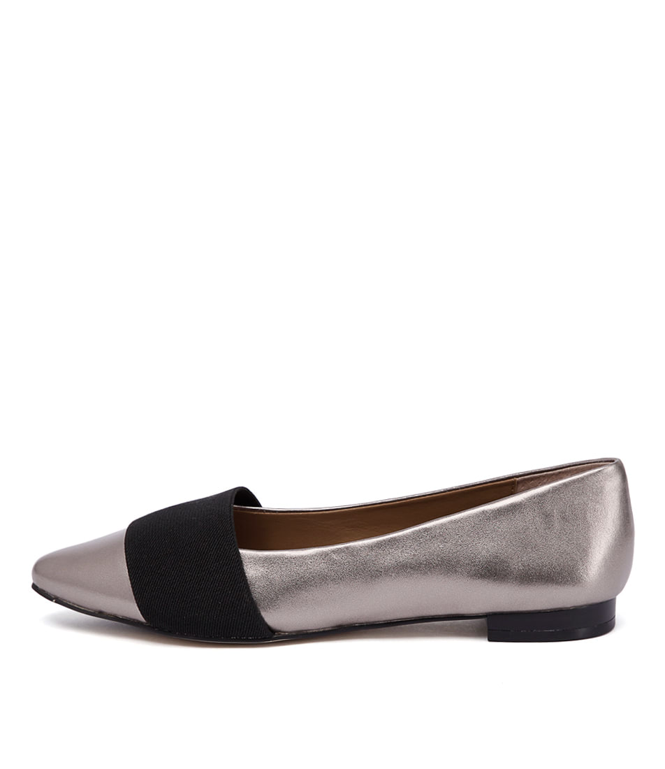 Diana Ferrari Carousel Gunmetal Black Shoes
