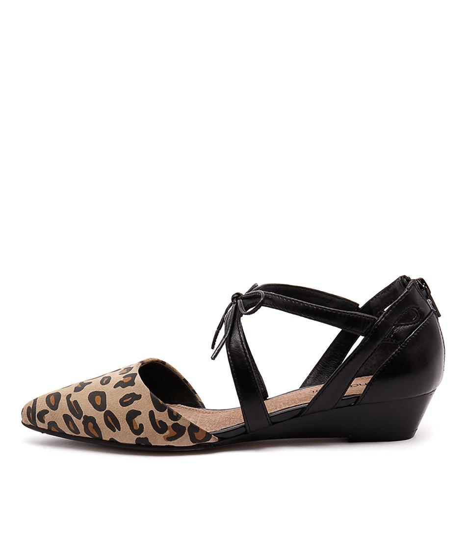 Diana Ferrari Pioneer Leopard Black Shoes