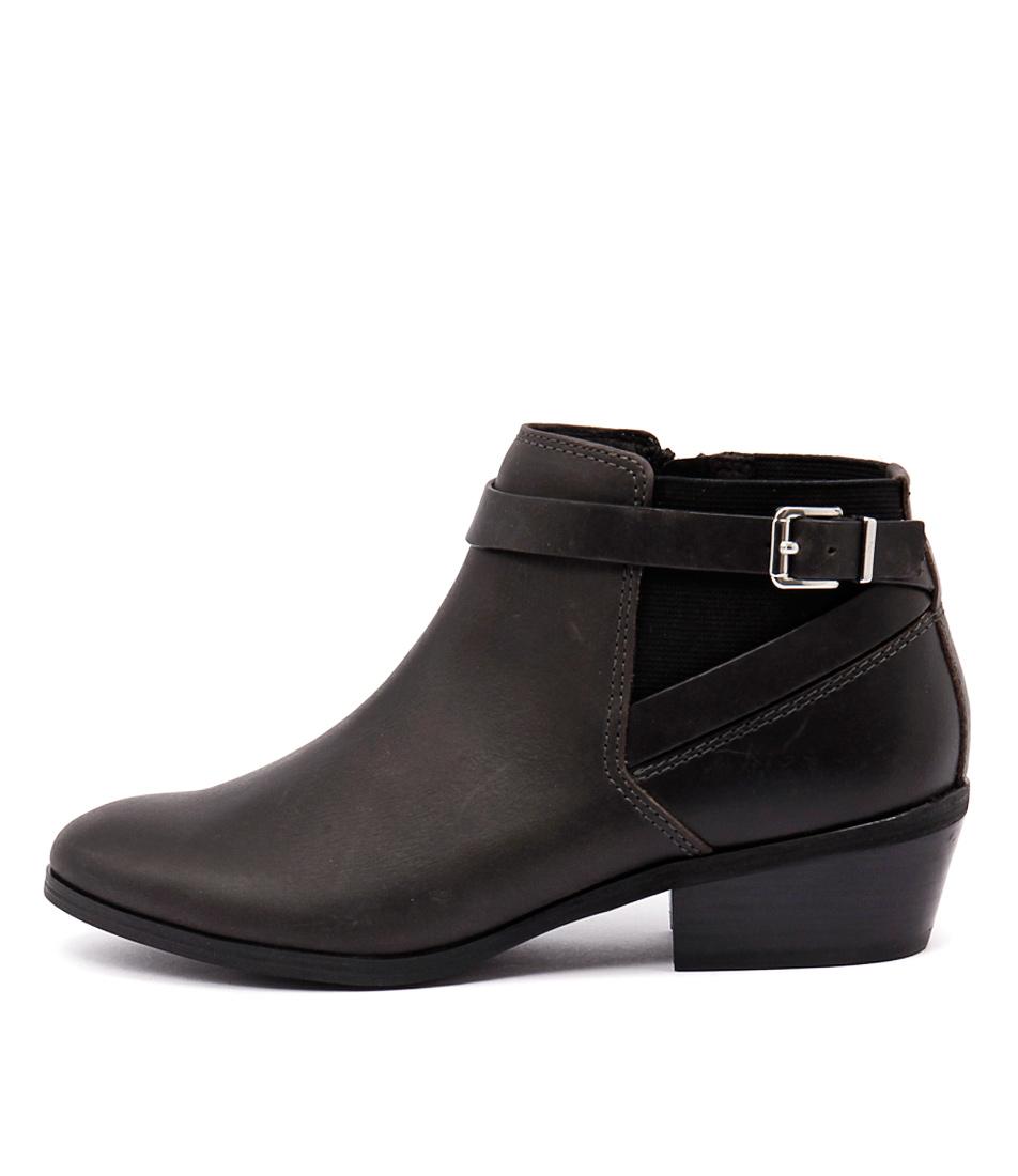 Diana Ferrari Gavel Black Ankle Boots