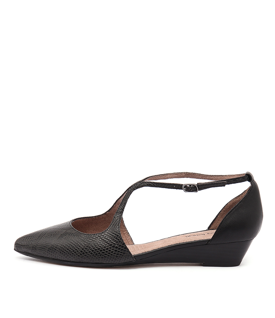 Diana Ferrari Pilgrim Black Dress Flat Shoes