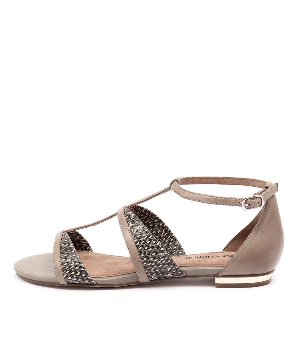 Diana Ferrari Hibernia Taupe Brown Casual Flat Sandals