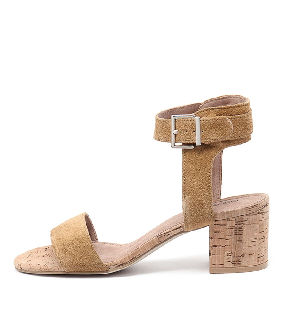 Diana Ferrari Amalia Light Tan Casual Heeled Sandals