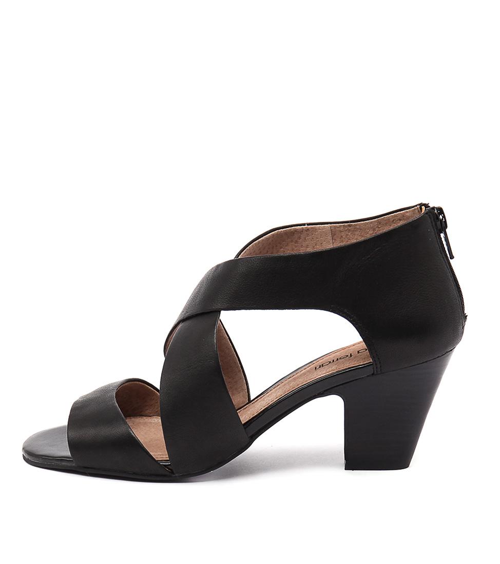 Diana Ferrari Queena Black Casual Heeled Sandals