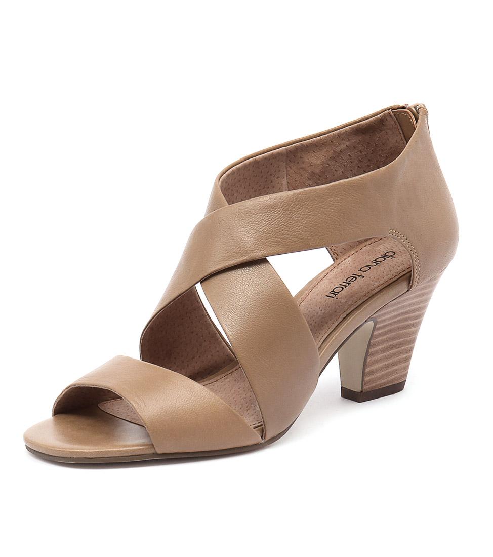 New Diana Ferrari Queena Tan Womens Shoes Casual Sandals