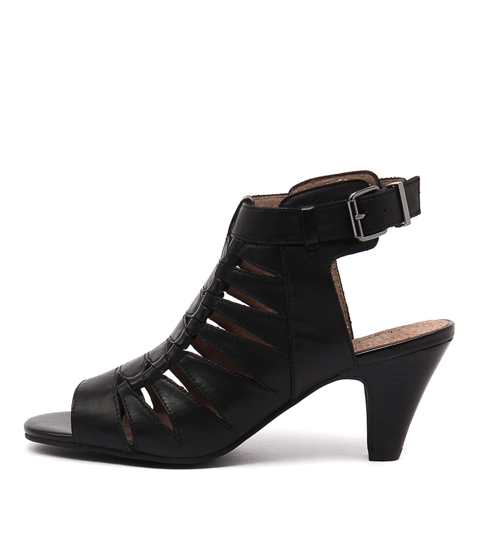 Diana Ferrari Rancho Black Casual Heeled Sandals