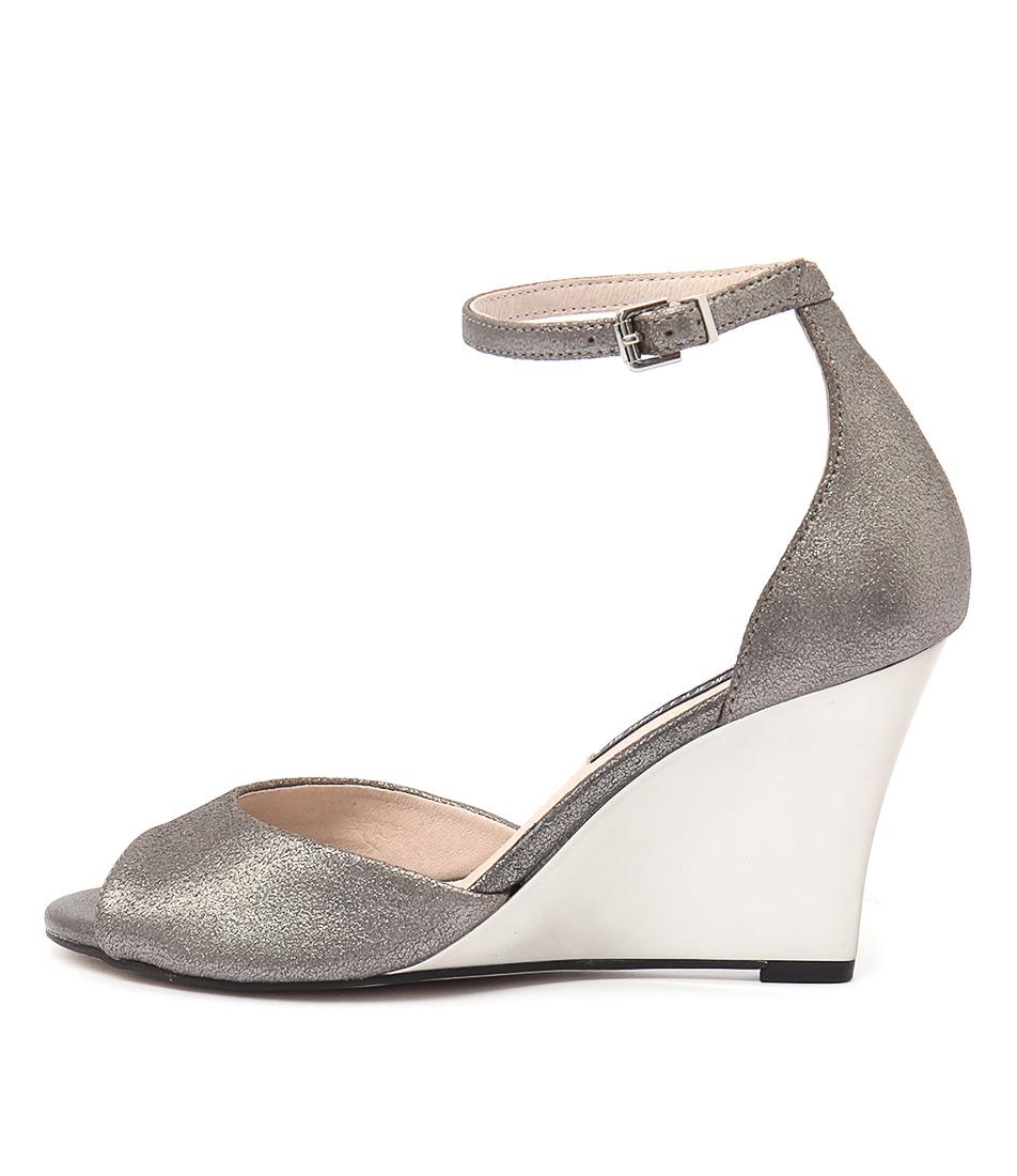 Diana Ferrari Stila Gunmetal Sandals