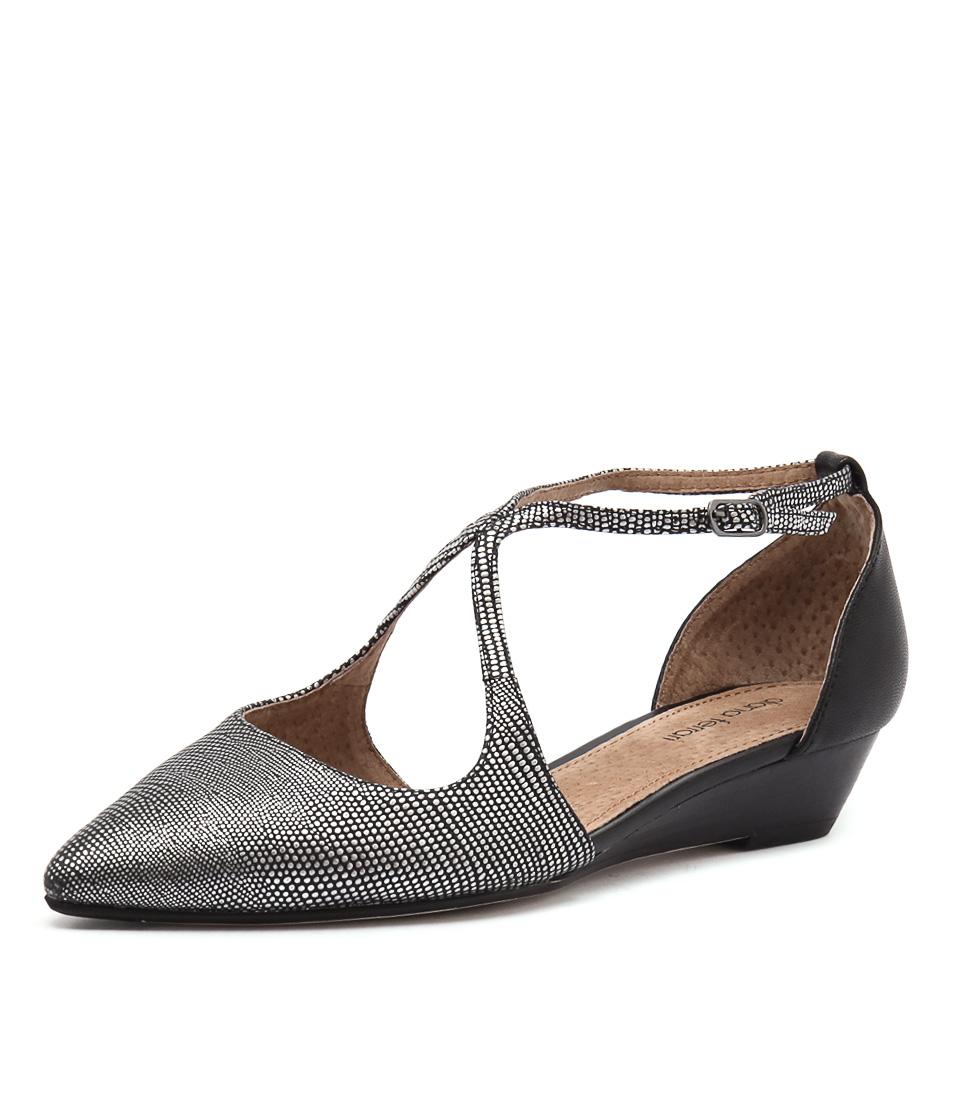 new diana pilgrim gunmetal black womens shoes