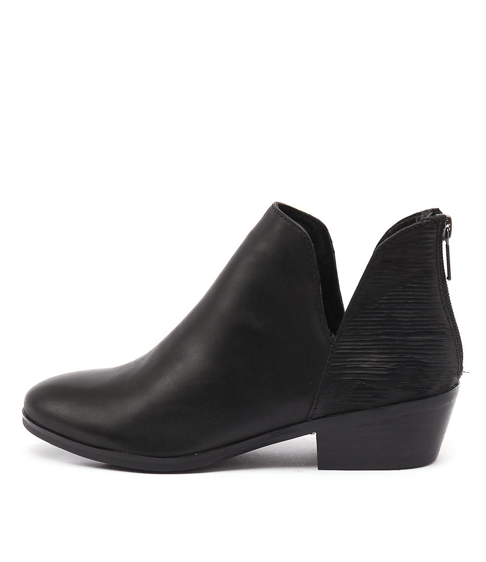 Diana Ferrari Glacier Black Casual Ankle Boots