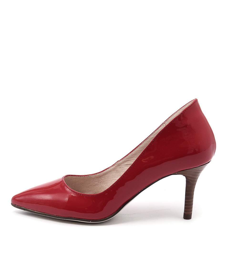 Diana Ferrari Katinka Red Casual Heeled Shoes