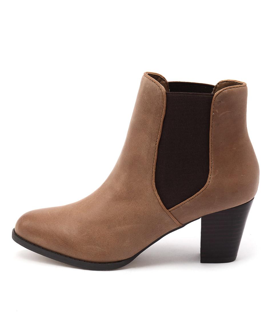 Diana Ferrari Lola Tan Casual Ankle Boots