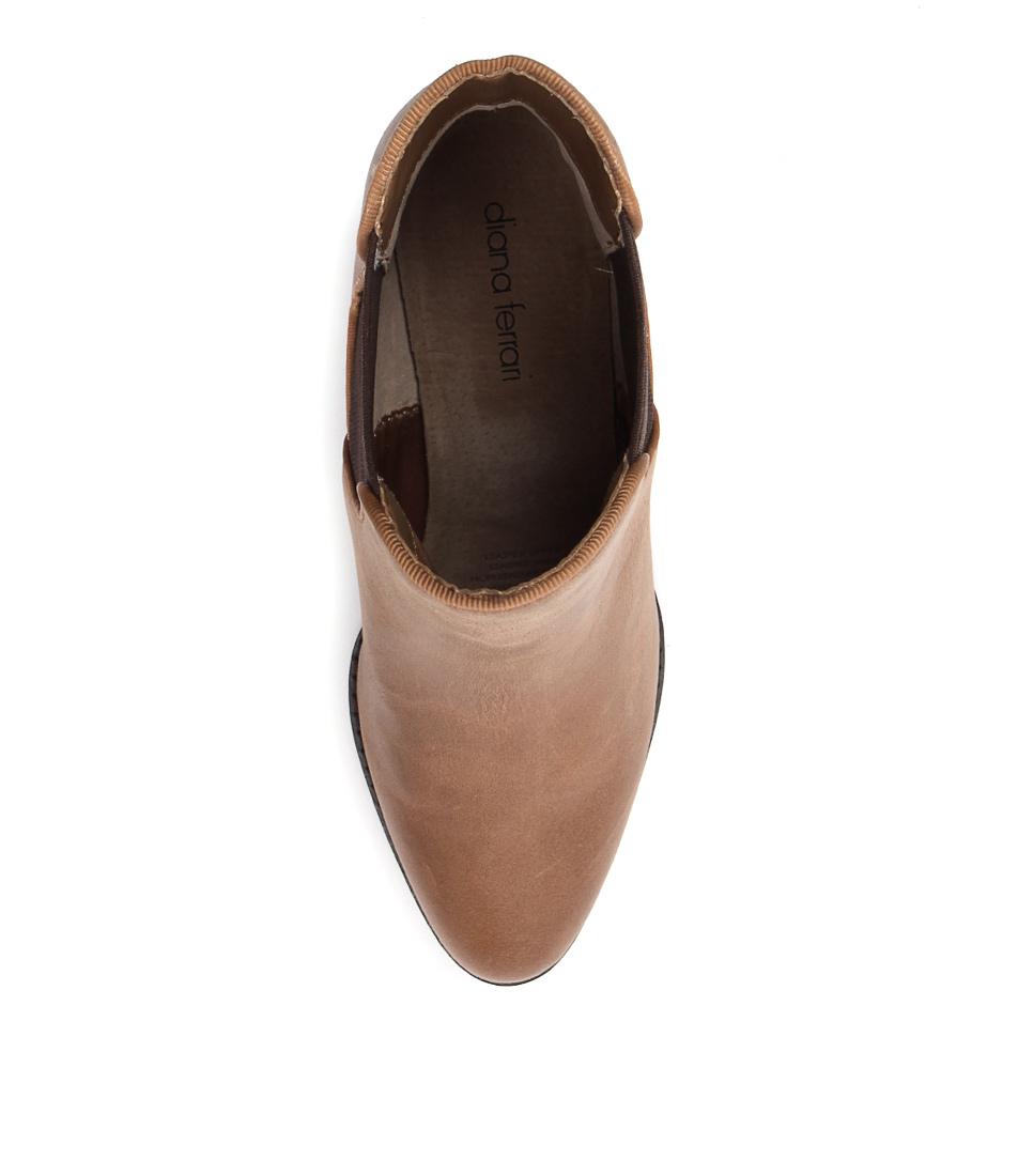 New Diana Ferrari Lola Tan Womens Shoes Casual Boots Ankle