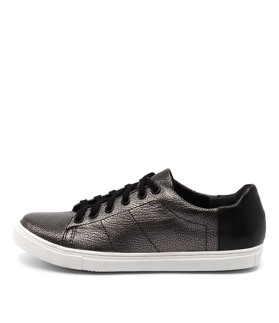 Diana Ferrari Eiffel Gunmetal Black Sneakers