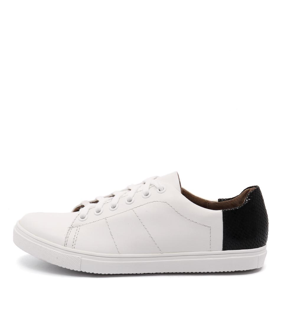 Diana Ferrari Eiffel White Black Sneakers