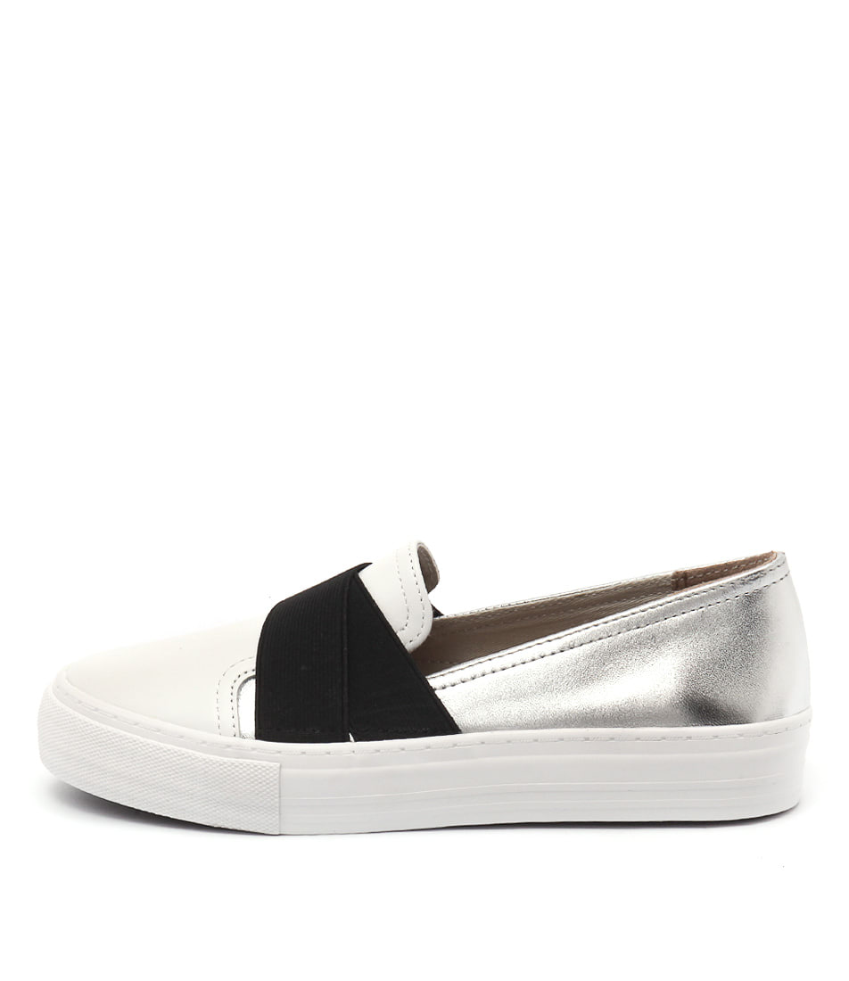Photo of Diana Ferrari Matador White Black Sil Sneakers womens shoes
