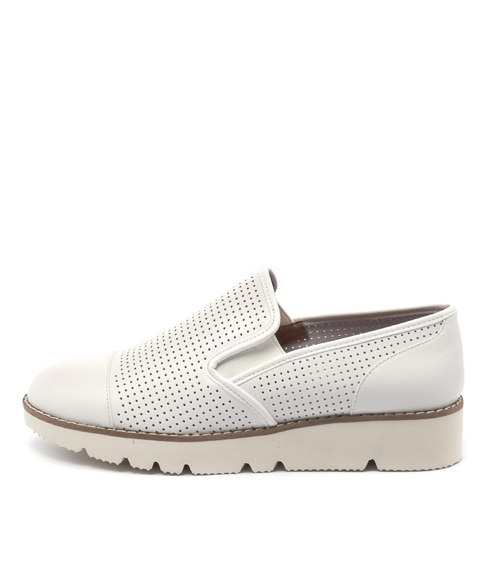 Diana Ferrari Balance White Flat Shoes