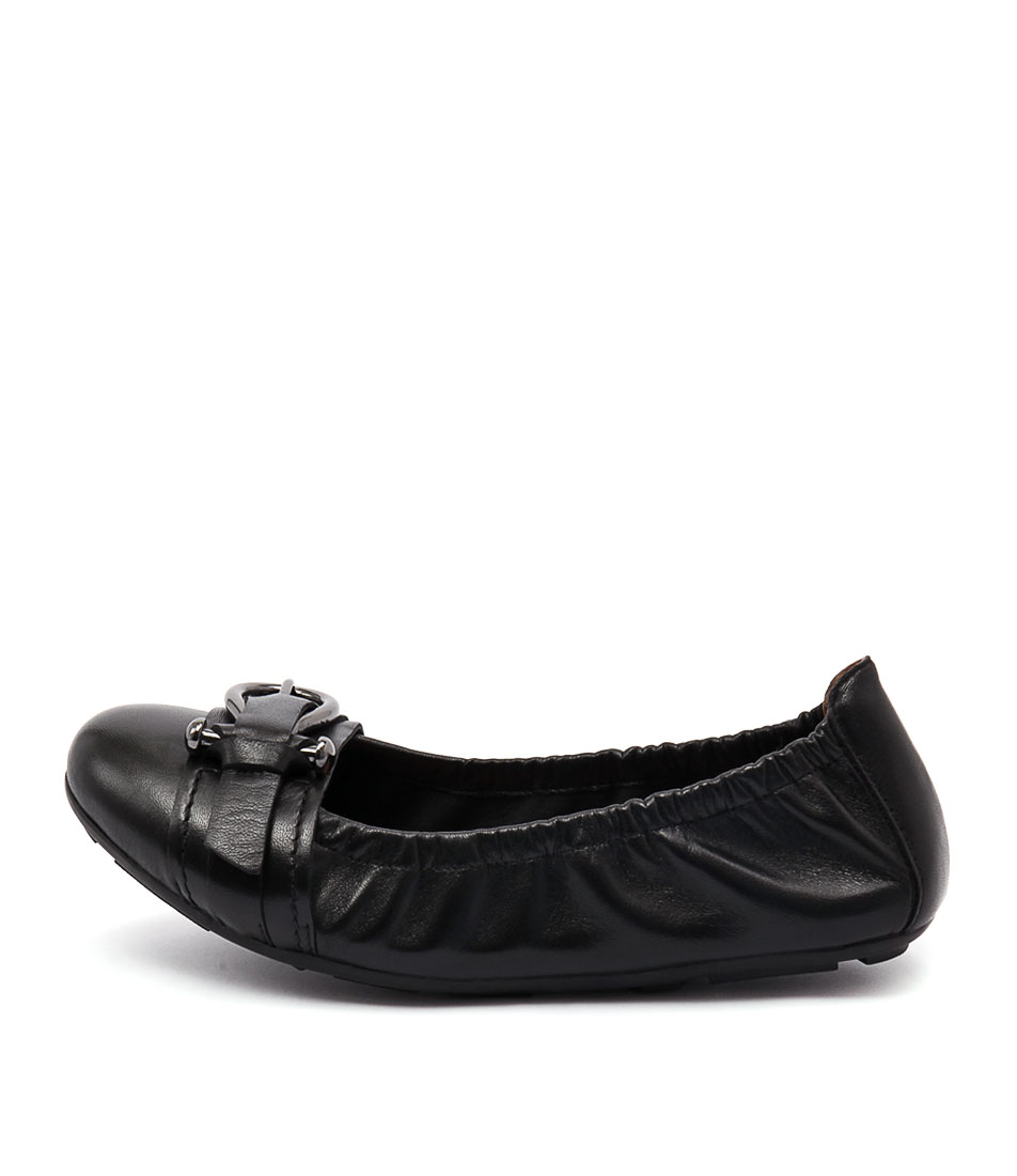 Diana Ferrari Honeycomb Black Casual Flat Shoes
