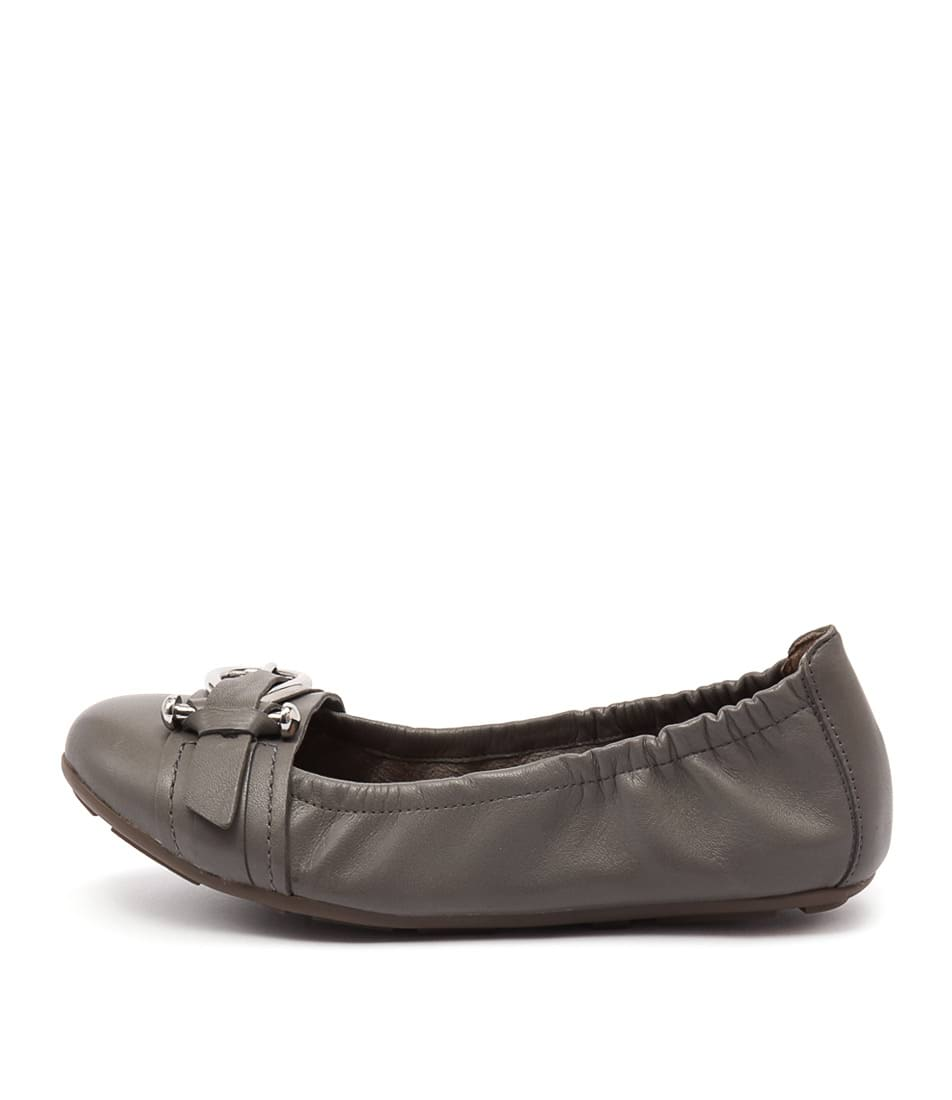 Diana Ferrari Honeycomb Grey Flat Shoes