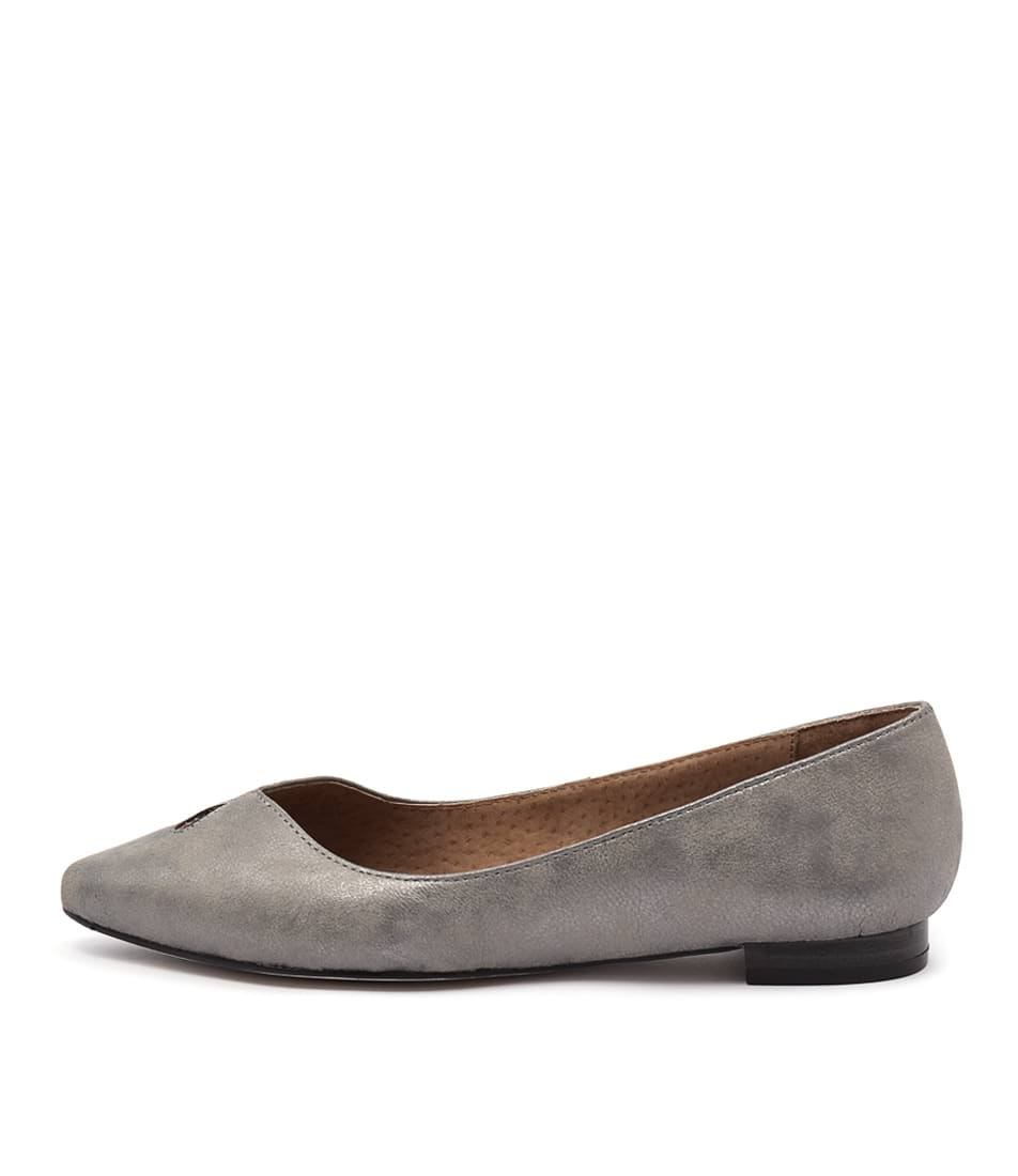 Photo of Diana Ferrari Cersai Washed Silver Flats womens shoes