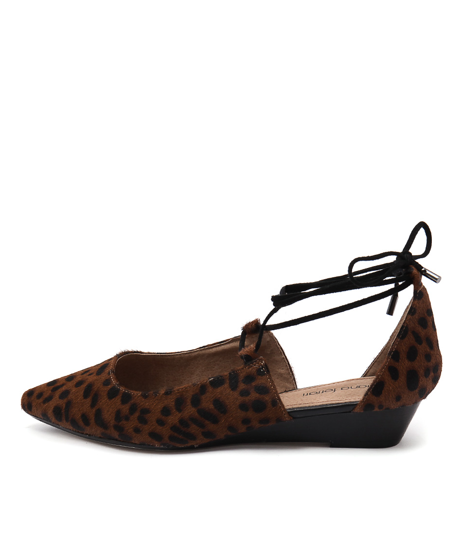 Diana Ferrari Prague Leopard Flat Shoes