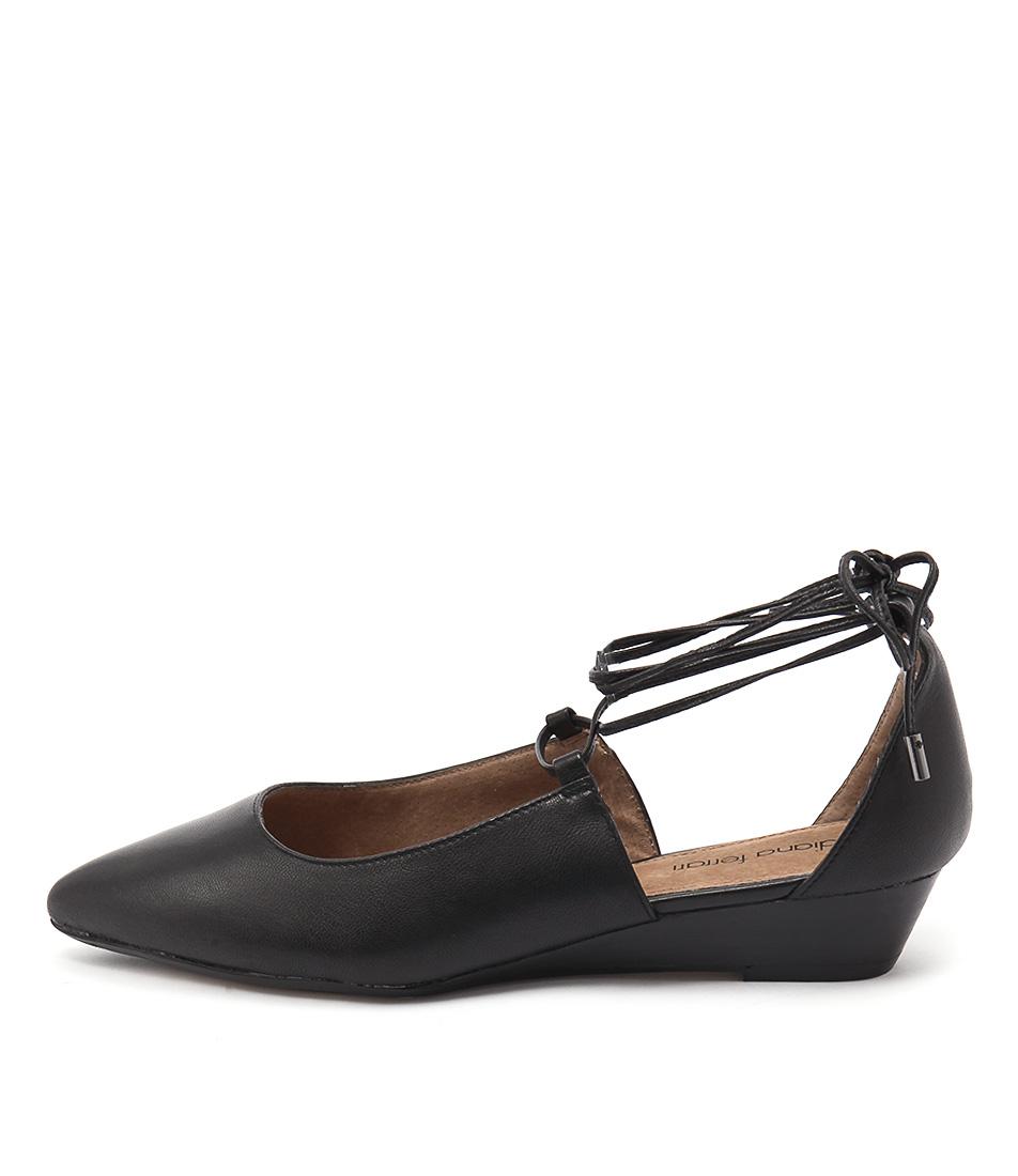 Diana Ferrari Prague Black Flat Shoes