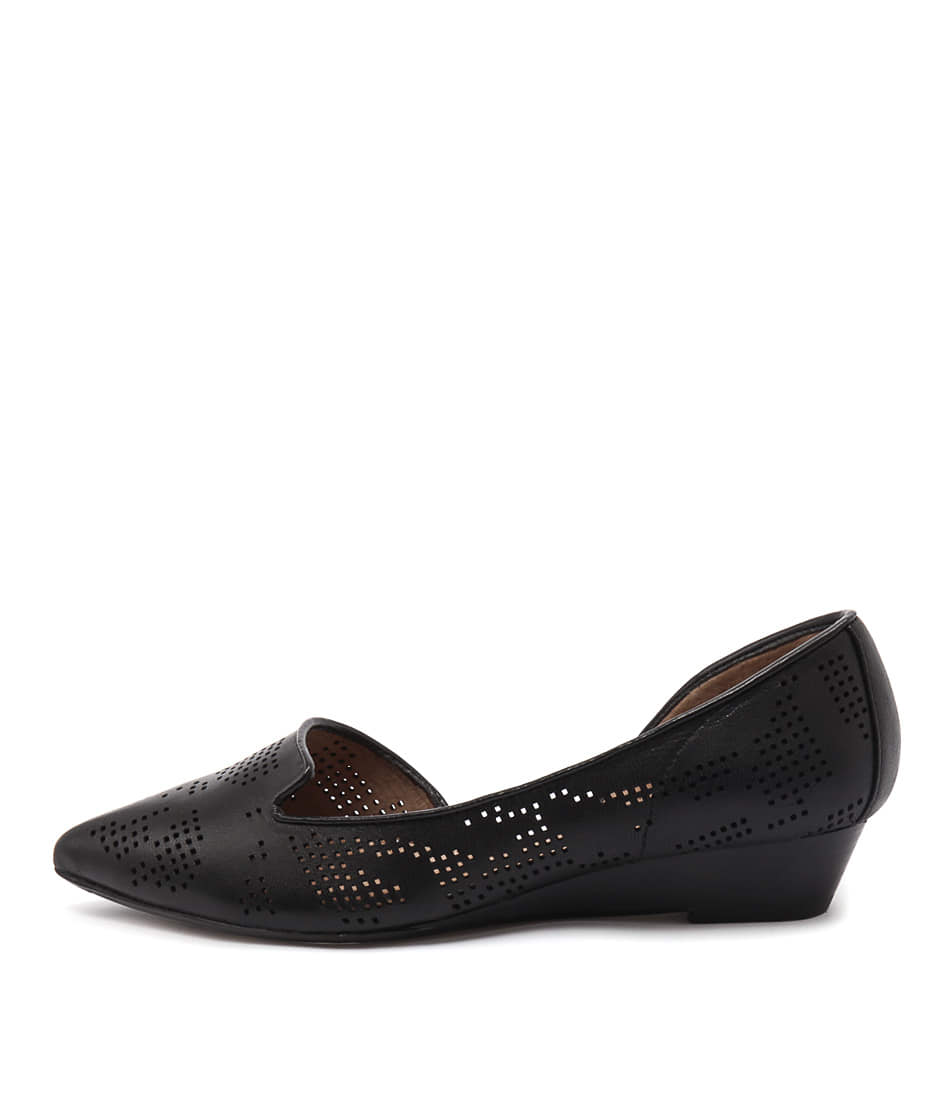 Diana Ferrari Prince Black Flat Shoes