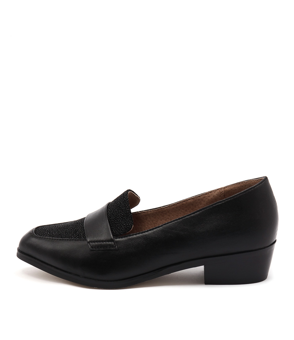 Diana Ferrari Anja Black Drops Flat Shoes