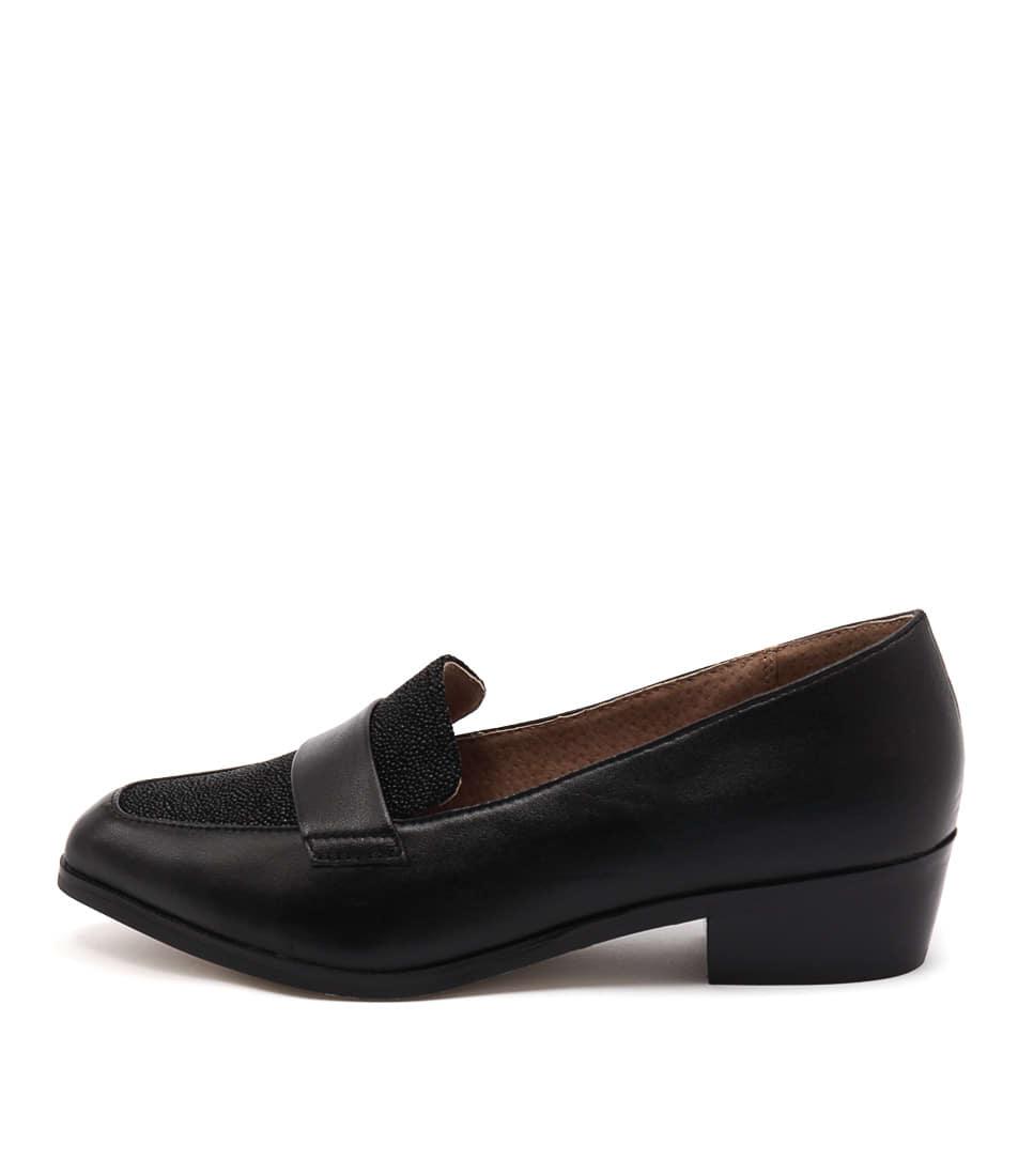 buy Diana Ferrari Anja Black Drops Flat Shoes shop Diana Ferrari Flats online