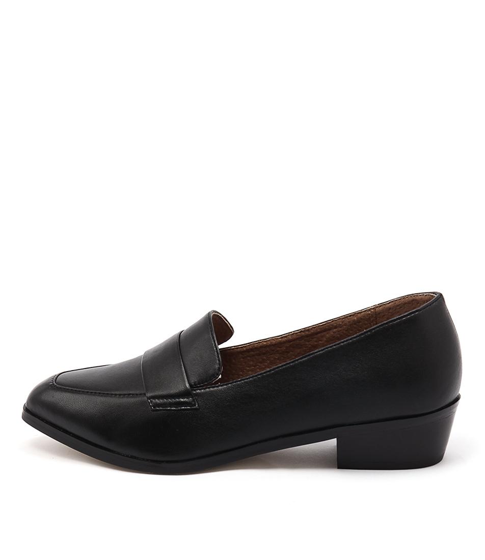 Diana Ferrari Anja Black Flat Shoes