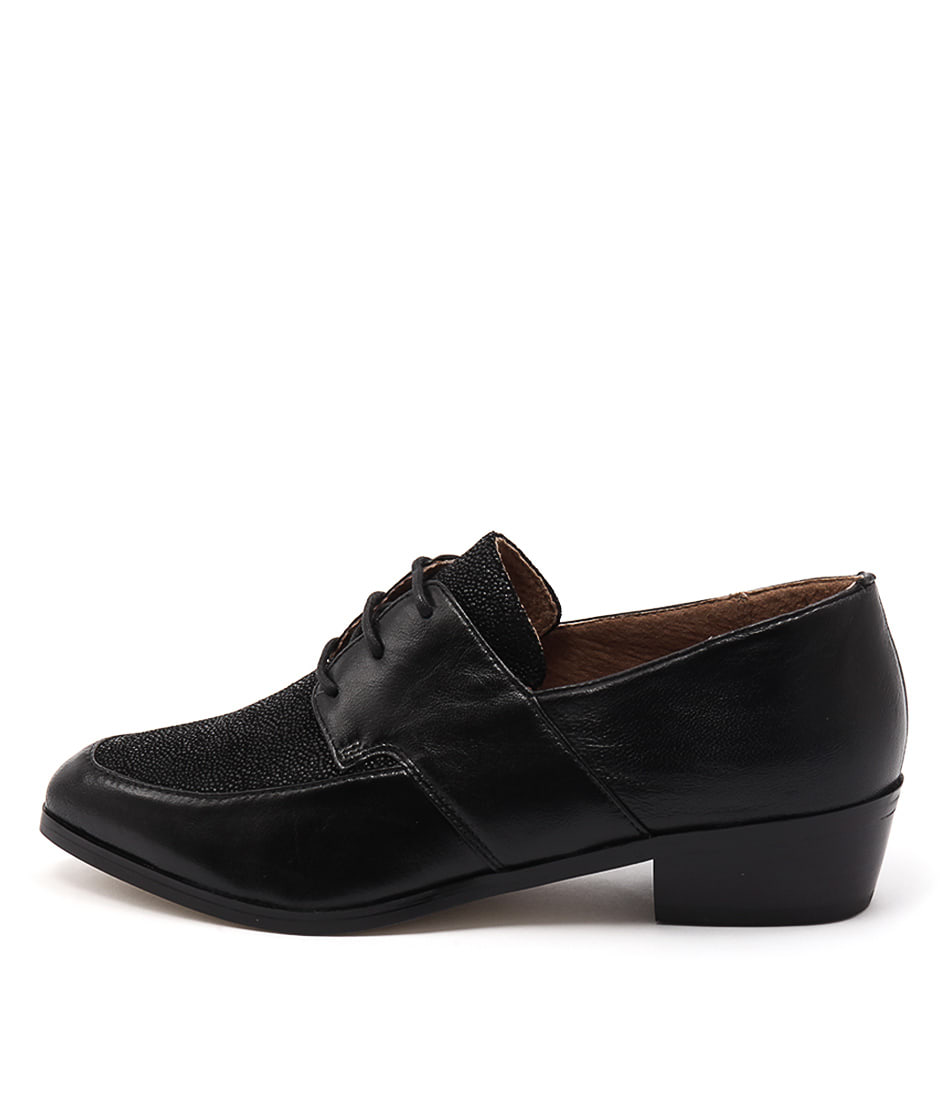Diana Ferrari Amabelle Black Drops Flat Shoes