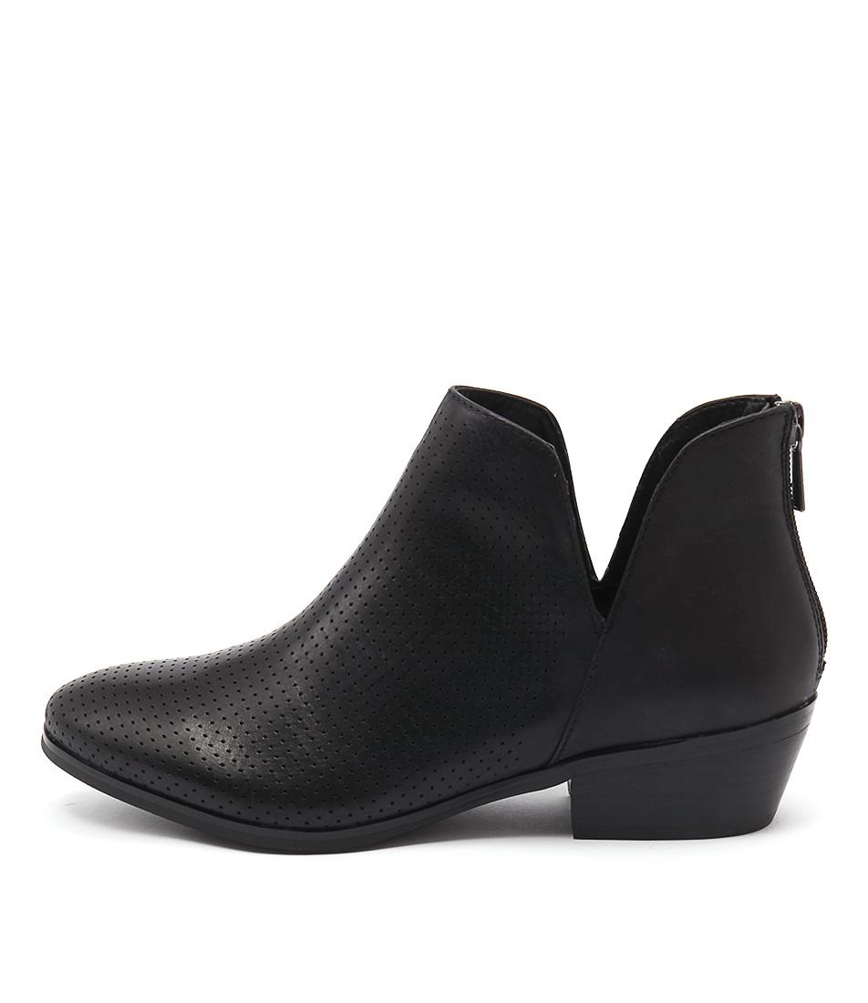 Diana Ferrari Glacier2 Black Ankle Boots