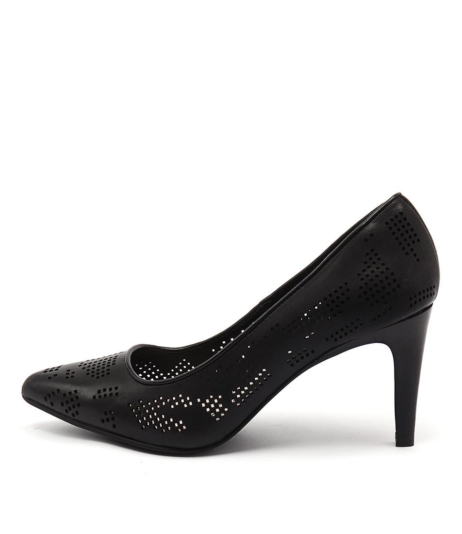 Diana Ferrari Toyah Black Casual Heeled Shoes