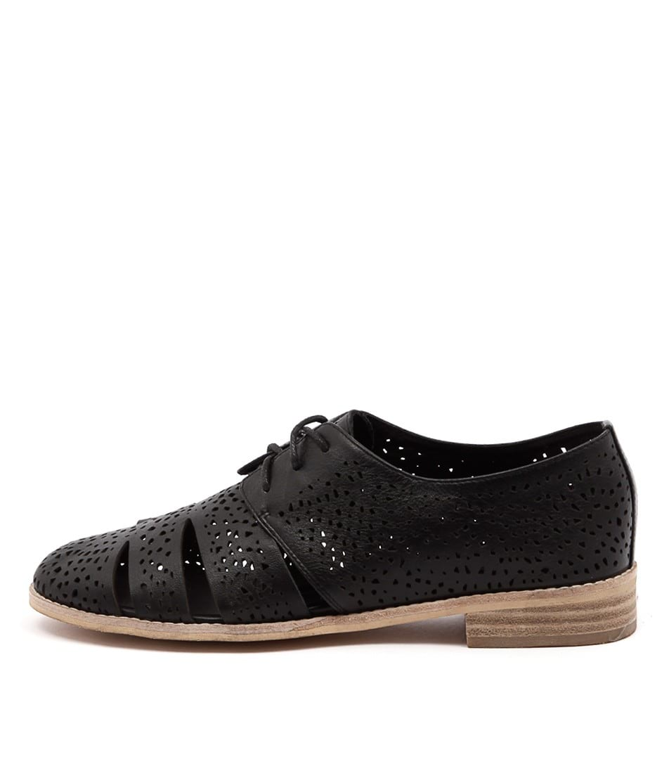 Django & Juliette Abra Black Flat Shoes
