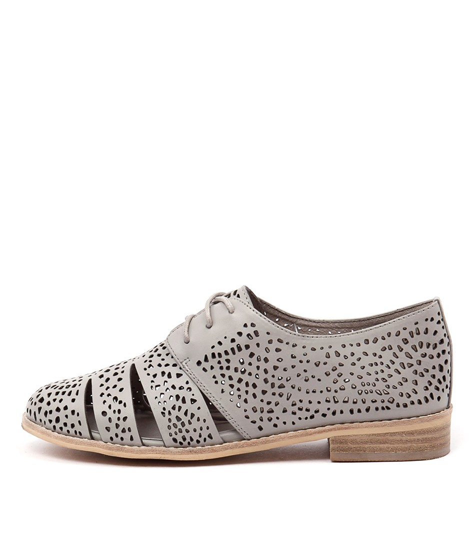 Django & Juliette Abra Light Grey Flat Shoes