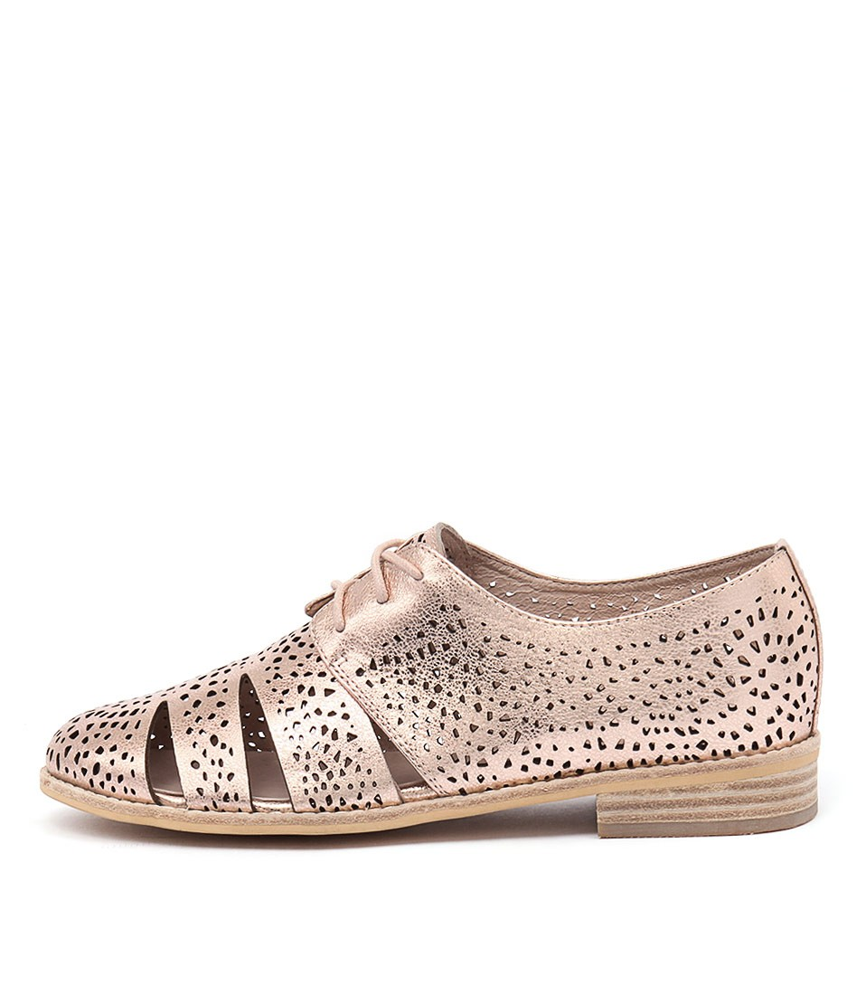 Django & Juliette Abra Rose Gold Flat Shoes