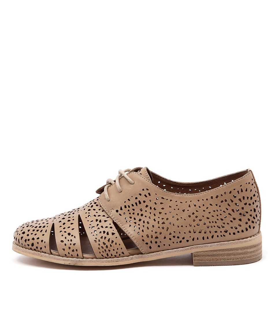 Django & Juliette Abra Latte Flat Shoes