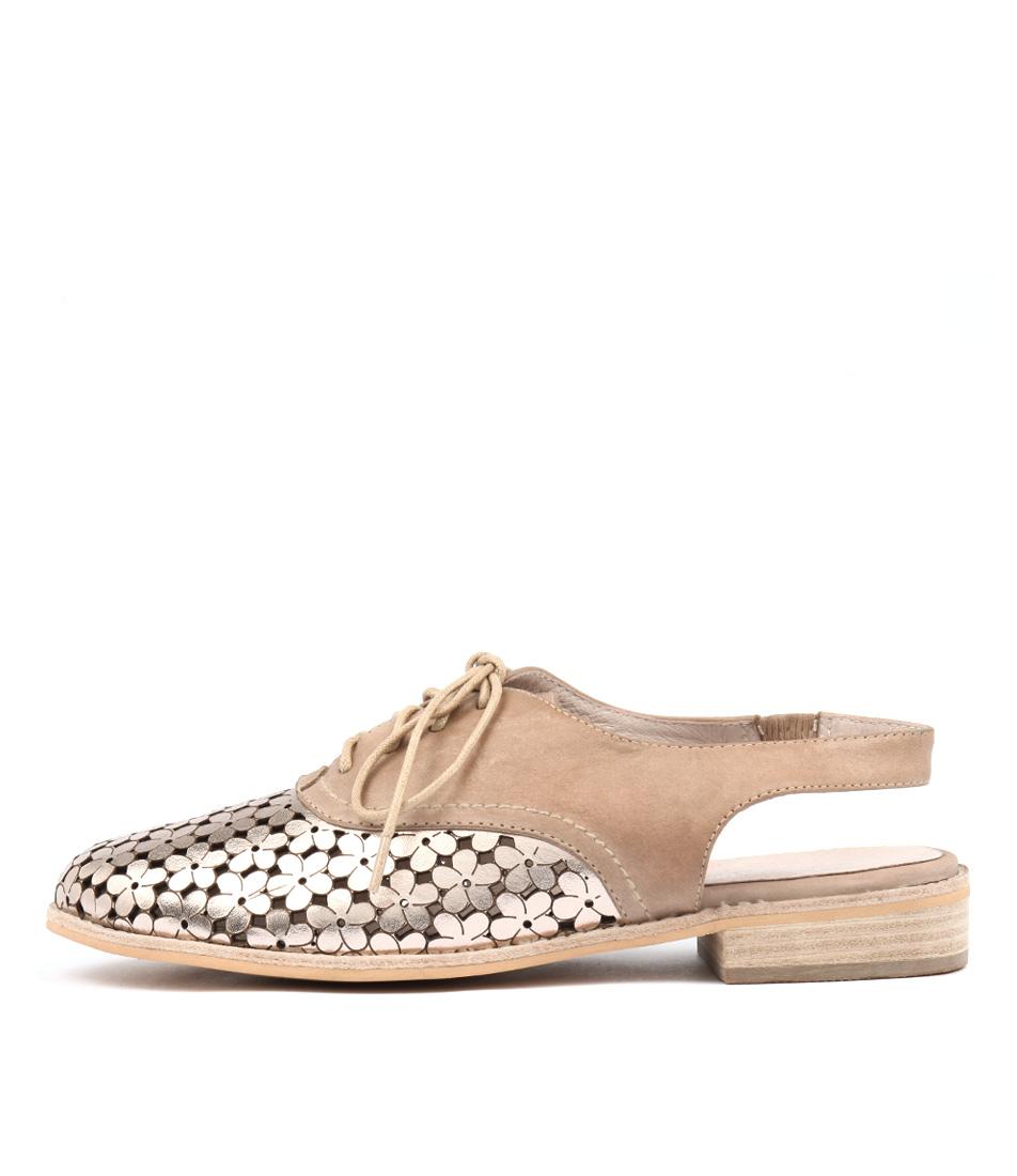 Django & Juliette Anabel Champagne Latte Flat Shoes
