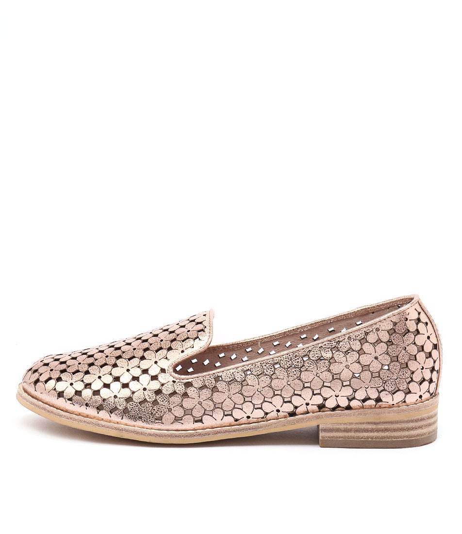 Django & Juliette Anson Rose Gold Metallic Flat Shoes