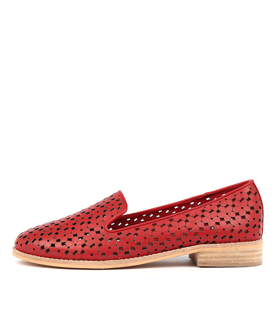 Django & Juliette Anson Red Flat Shoes