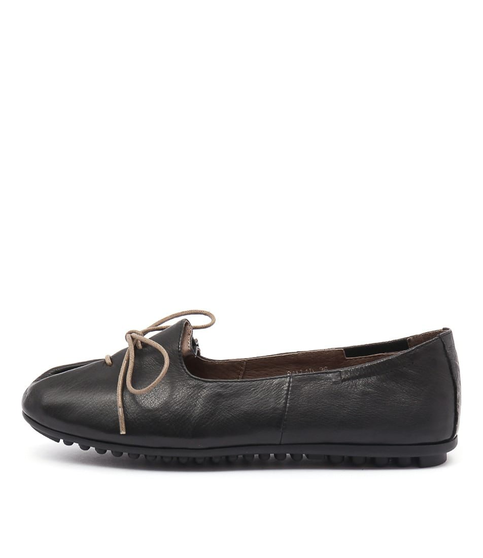 Django & Juliette Ballad Black Flat Shoes