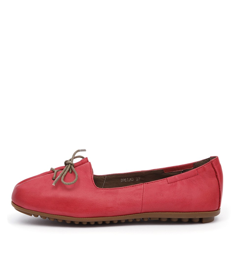 Django & Juliette Ballad Red Flat Shoes