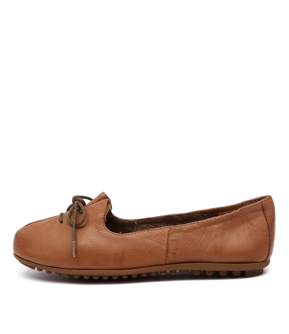 Django & Juliette Ballad Tan Flat Shoes