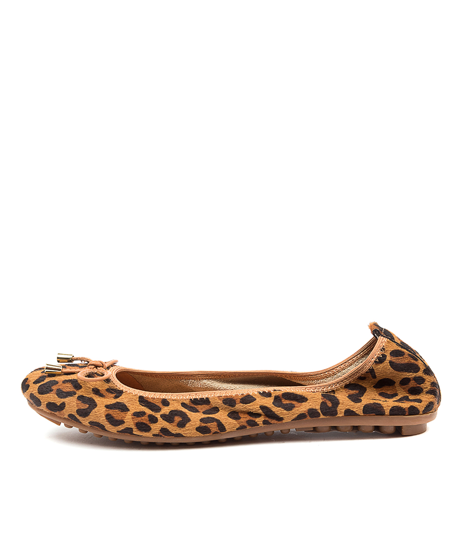 Buy Django & Juliette Belin Tan Leopard Tan Flats online with free shipping
