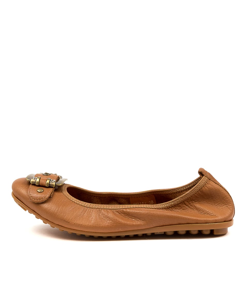 Buy Django & Juliette Bellez Dk Tan Flats online with free shipping