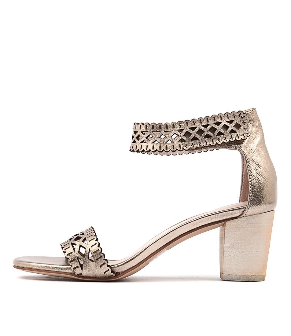 Django & Juliette Cajun Champagne Dress Heeled Sandals