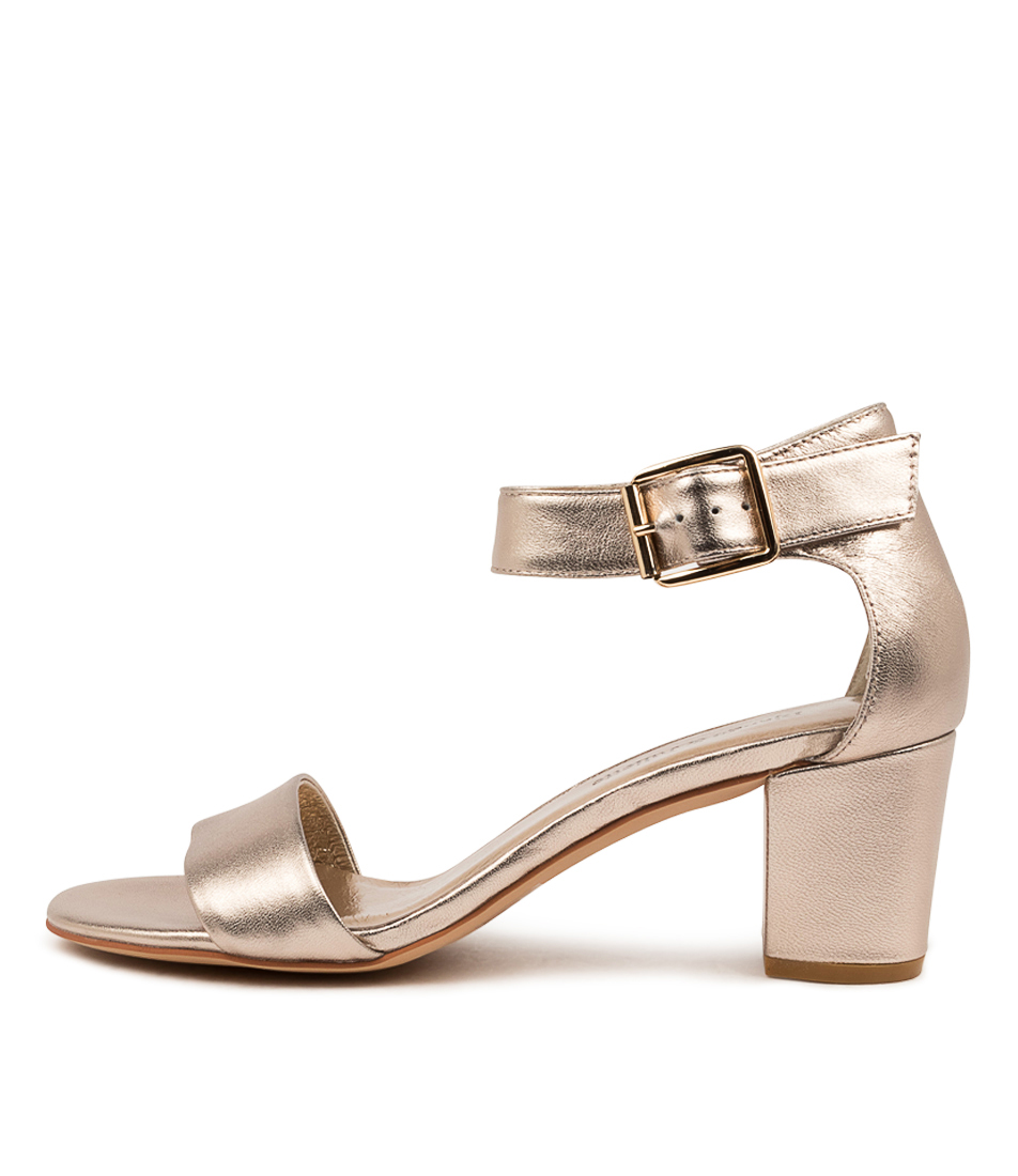 Buy Django & Juliette Cassier Champagne Heeled Sandals online with free shipping