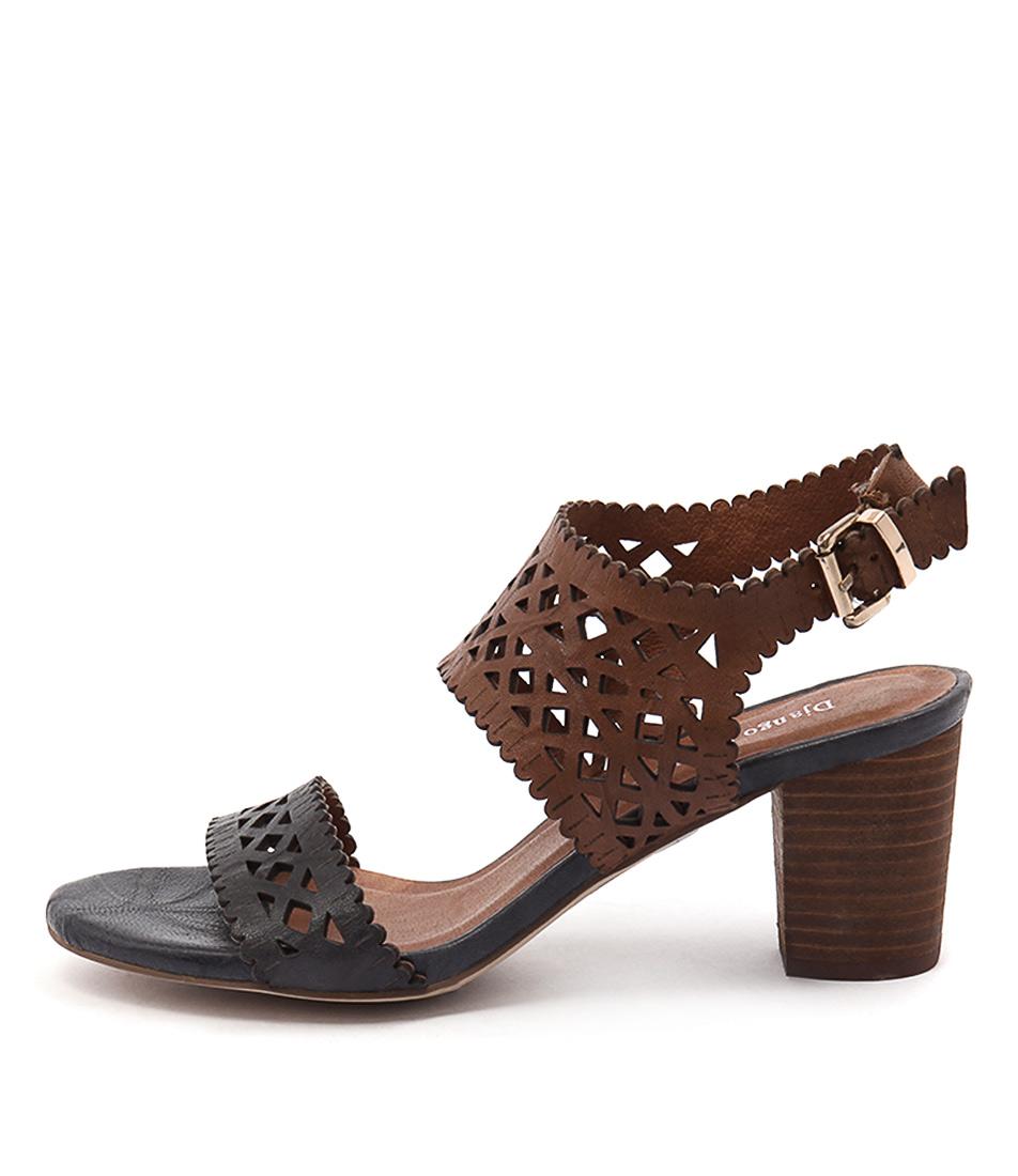 Django & Juliette Caviar Navy Tan Sandals