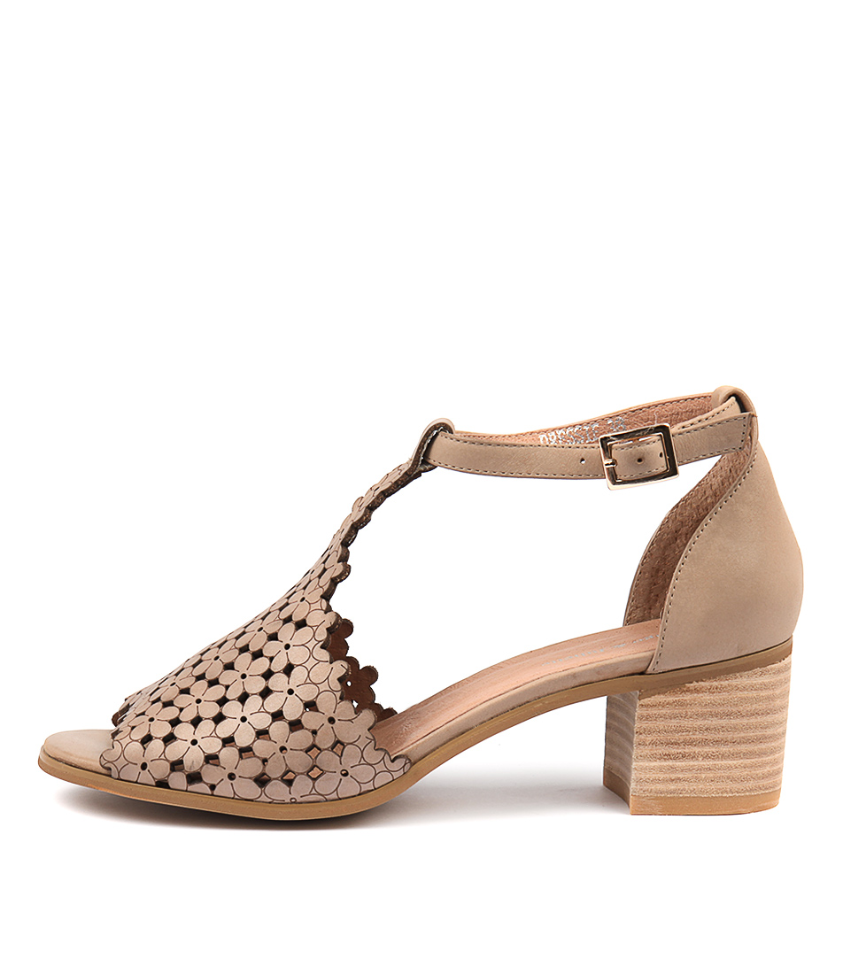 Buy Django & Juliette Dressie Latte Heeled Sandals online with free shipping