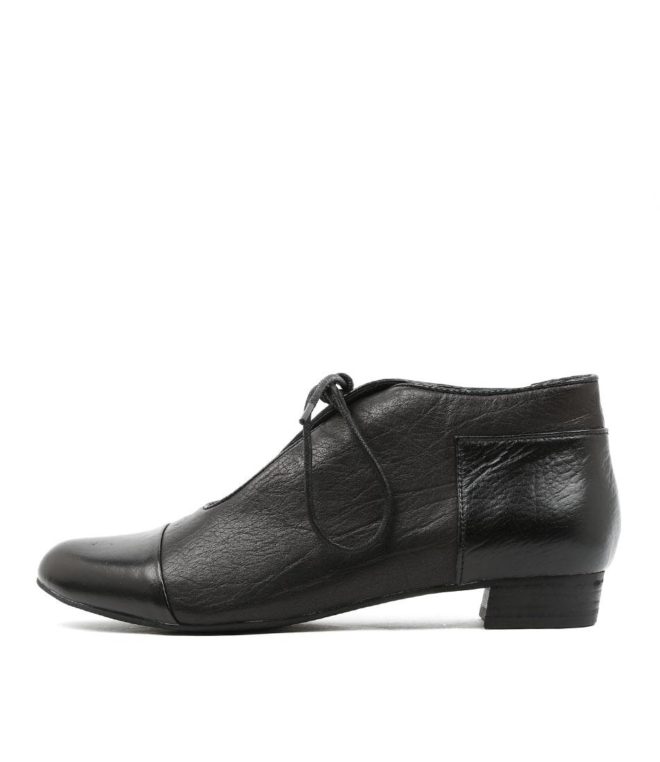 Django & Juliette Elista Black Metallic Black Casual Flat Shoes
