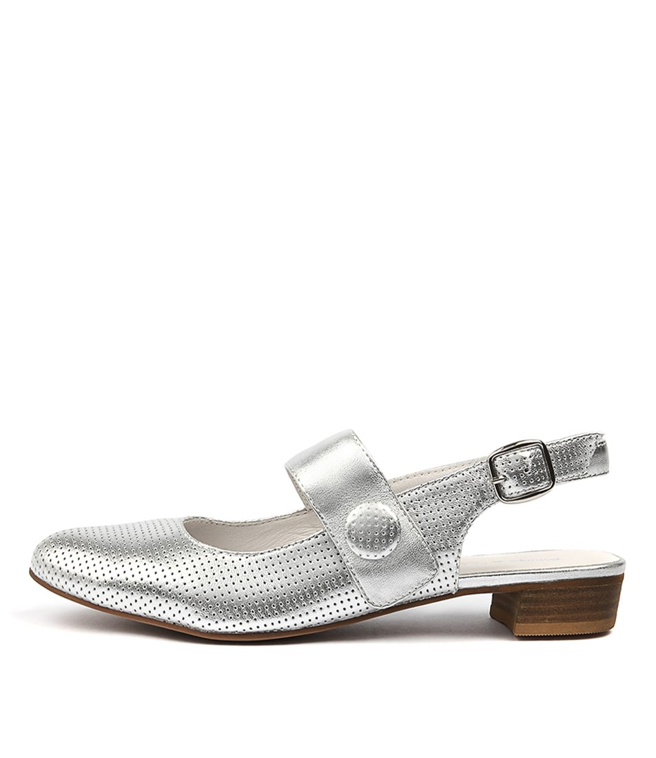 Django & Juliette Emberly Silver Flat Shoes